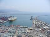Porto di Salerno visto dal treno