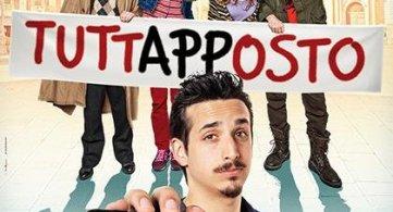 Il regista e il cast del film 'Tuttapposto' al Duel Village, in sala Roberto Lipari, Gianni Costantino e Francesco Russo