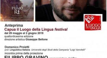 Al Ricciardi l'anteprima di 'Capua il Luogo della Lingua festival' con Filippo Gravino sceneggiatore del film 'Il Primo Re'